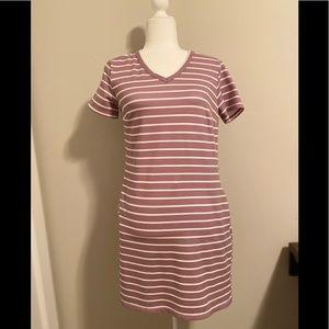 32 Degrees Cool Purple Striped Dress